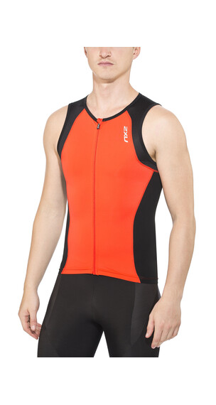 2XU Active Tri Singlet Men desert red/black